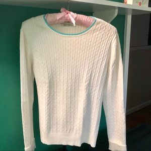 Tommy Hilfiger white cable knit sweater sz S